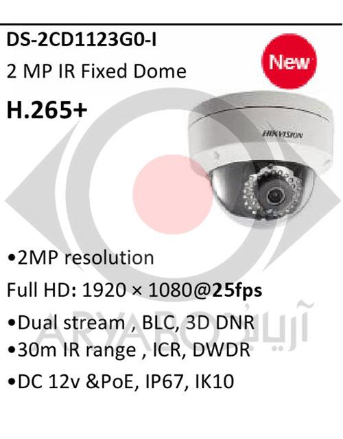 دوربین مداربسته تحت شبکه هایک ویژن HIKVISION DS-2CD1123G0-I
