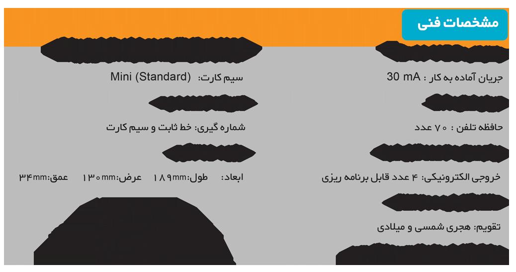 مشخصات تلفن کننده دوگانه CLASSIC G1 ULTRA V4